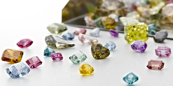 Collection of Different Natural Jewel Stones.